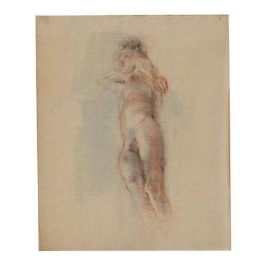 Edmond Fitzgerald Figural Charcoal Drawings