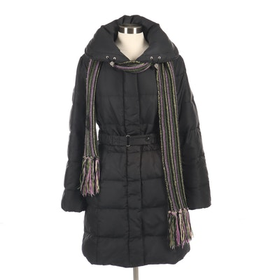 Max Mara Weekend Knit Scarf and Down Winter Coat