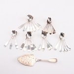 Sterling Silver, Silver Plate, and Coin Silver Teaspoons and Cake Server