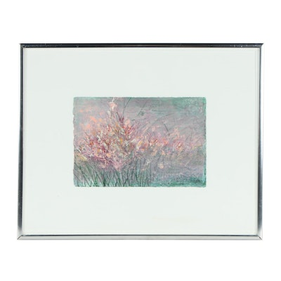 Impressionist Style Floral Gouache Painting