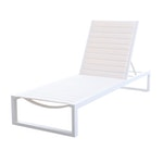 """Matthew Hilton """"Eos"""" Chaise Lounge in White"""