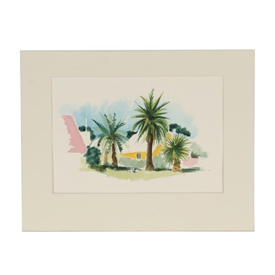 Robert Herrmann Landscape Watercolor Painting