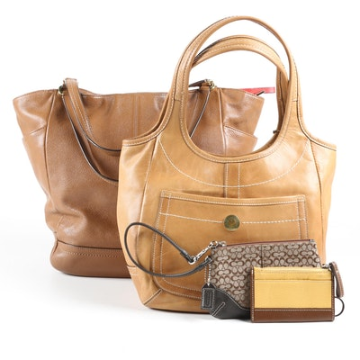 Coach North South Park Tote and Ergo Tote with Wristlet and Key Card Case
