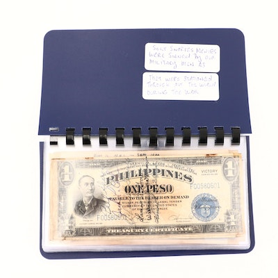 """Collection of Foreign """"Short Snorter"""" Currency Notes"""