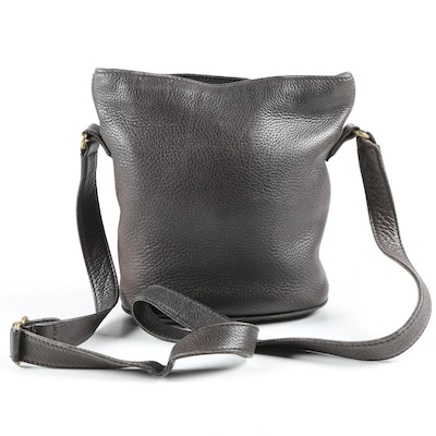 Coach Sonoma Black Pebbled Leather Bucket Crossbody Bag