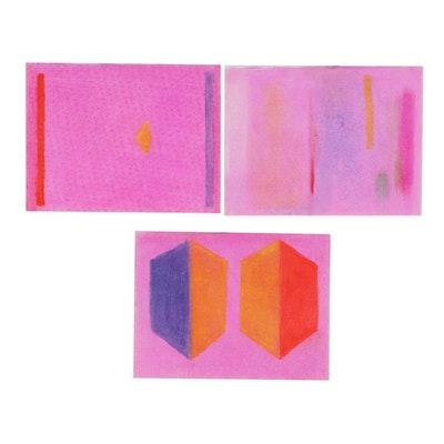 Beth Hertz Abstract Pastel Drawings