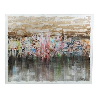 Contemporary Abstract Mixed Media Painting