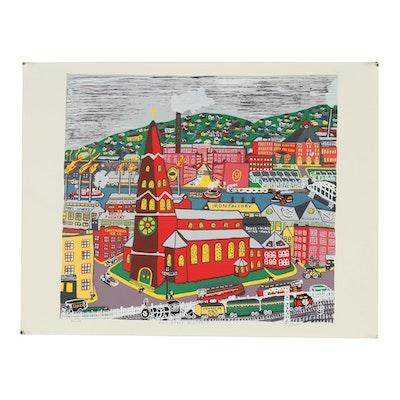 "Kathleen Ferri Serigraph ""Old Strip District"""