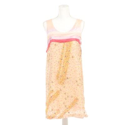 Chloé Embellished Confetti Sleeveless Dress