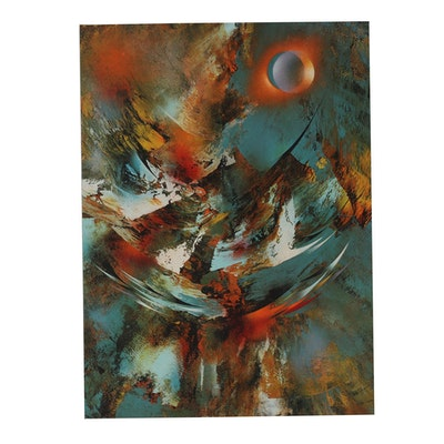 Leonardo Nierman Embossed Abstract Lithograph