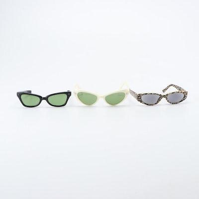 Cat Eye Sunglasses Including Polaroid, Vintage