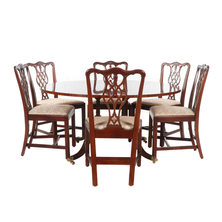 Hickory Chair Company Mahogany Dining Furniture Set