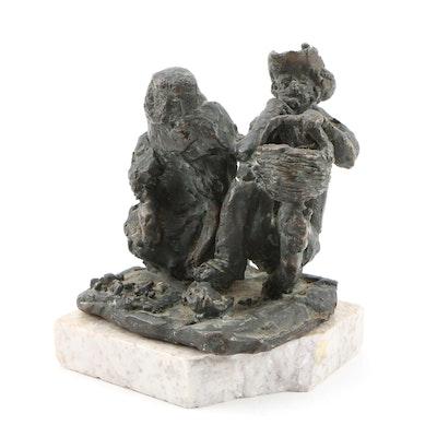 20th Century Cast Bronze Figural Sculpture
