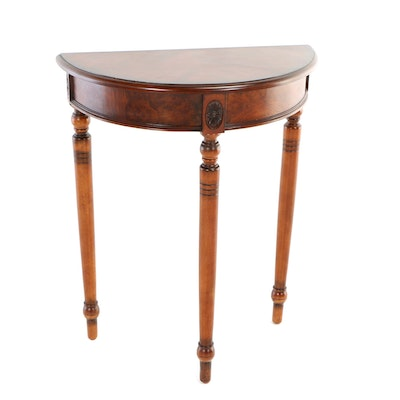 Contemporary Louis XVI Style Demilune Side Table