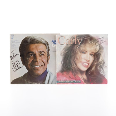 "Signed Carly Simon ""Coming Around Again"" and Jerry Vale ""Let it Be"" Records"