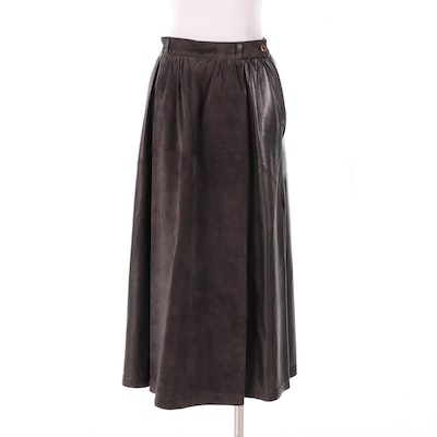G. Gucci Leather and Suede Skirt, 1970s