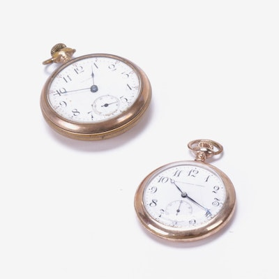 Gold Filled Smith Patterson Co. and Waltham Pocket Watches, Early 20th Century