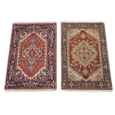 2' x 3'3 Hand-Knotted Indo-Persian Heriz Serapi Rugs