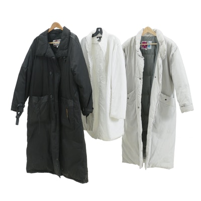 DKNY White Nylon Puffer Coat with Other Winter Coats