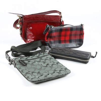 Coach Shoulder Bags, Wristlet and Wallet with Matching Coin Purse