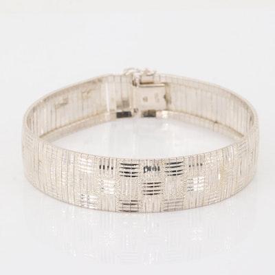 Sterling Silver Etched Design Bracelet