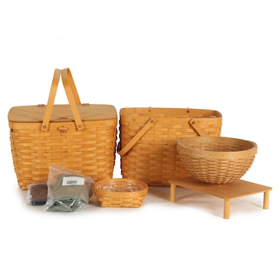Longaberger Handwoven Maple Baskets