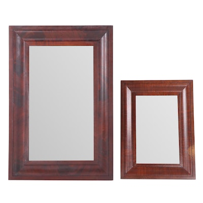 Empire Period Mahogany Ogee Mirrors, Mid 19th Century