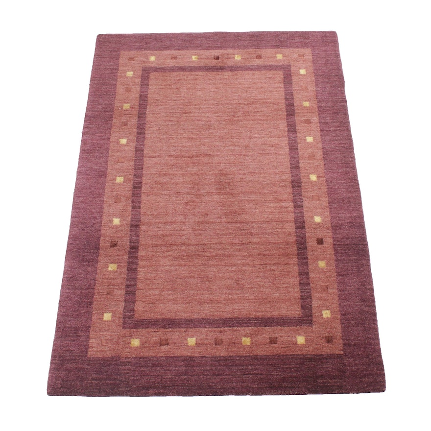 4' x 6'1 Hand-Knotted Indo-Persian Gabbeh Rug