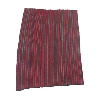 3'2 x 4'10 Handwoven Persian Jajim Rug, Circa 1930s