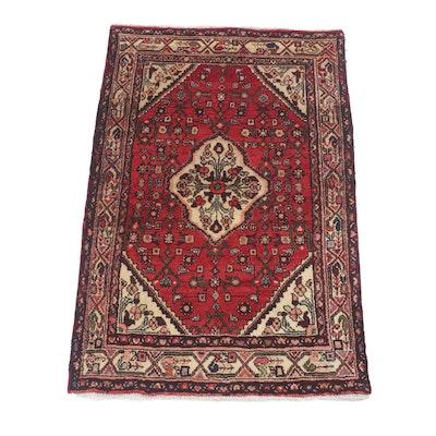 3'1 x 4'10 Hand-Knotted Persian Zanjan Rug, Circa 1970s