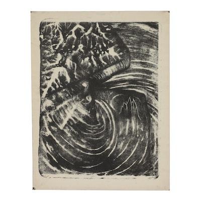 "Arthur Helwig 1972 Lithograph ""Spider"""