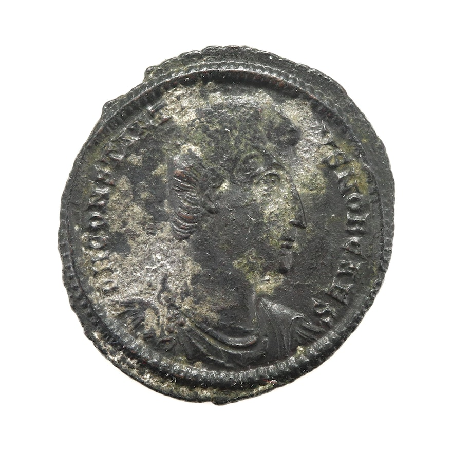 Ancient Roman Imperial AE Follis of Constantius II, ca. 340 A.D.