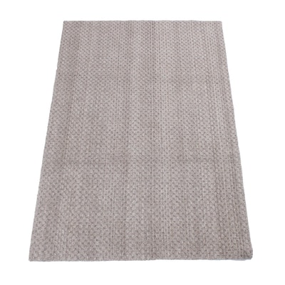 4' x 6'1 Hand-Knotted Indian Mid Century Modern Style Rug