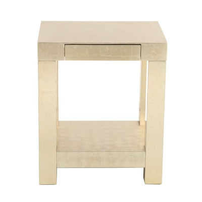 Parsons End Table with Metallic Gold Finish