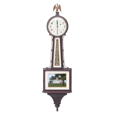 Converted New Haven Clock Co. Banjo Clock, Early to Mid 20th Century
