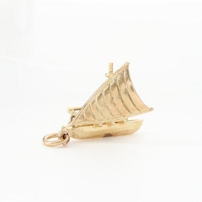 9K Yellow Gold Catamaran Charm