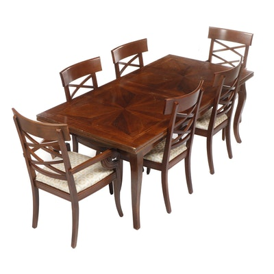Arhaus Italy Dining Table with Pull-Out Leaves and 6 Chairs