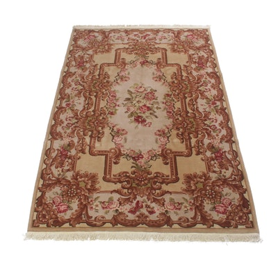 5'11 x 8'11 Hand-Knotted Sino-Persian Kashan Rug, Vintage