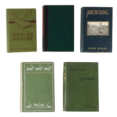 Vintage Big Game Hunting Books including First Editions