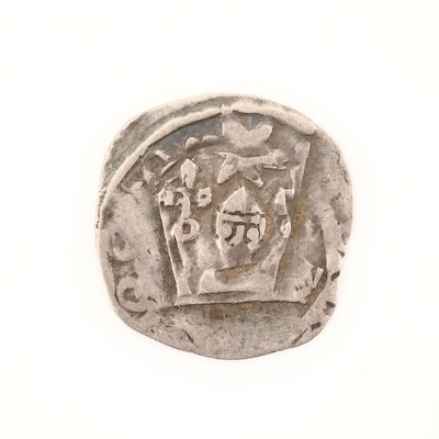 Bishopric of Salzburg Hammered 1-Pfennig Silver Coin of Eberhard II, ca. 1200