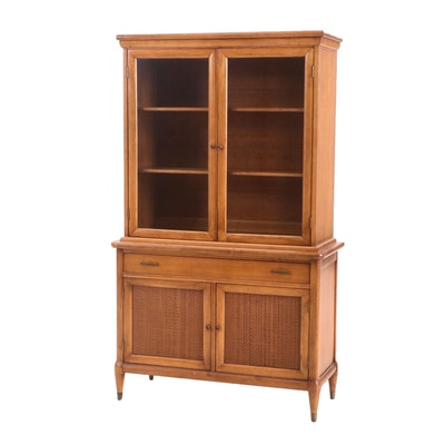 Mid Century Modern Maple China Cabinet