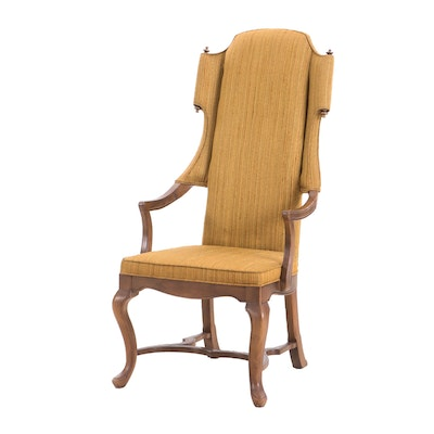 Drexel Furniture Transitional Style Pecan Armchair, Mid-20th Century