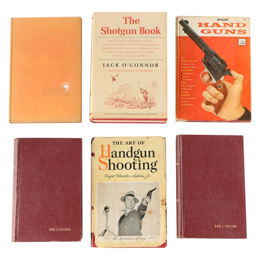 """First Edition """"Instinct Shooting"""" by Jennings with More Firearm Books"""