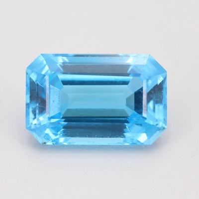 Loose 17.39 CT Blue Topaz Gemstone