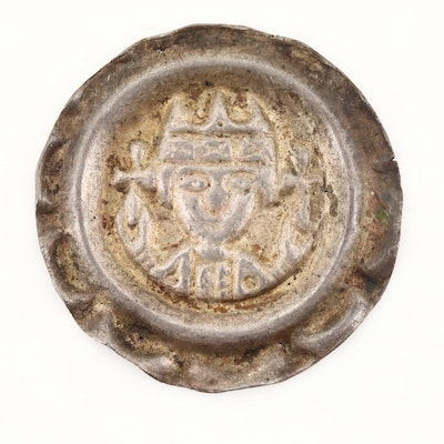 Bishopric of Augsburg AR Bracteate Coin of Bishop Siboto of Seefeld, ca. 1230