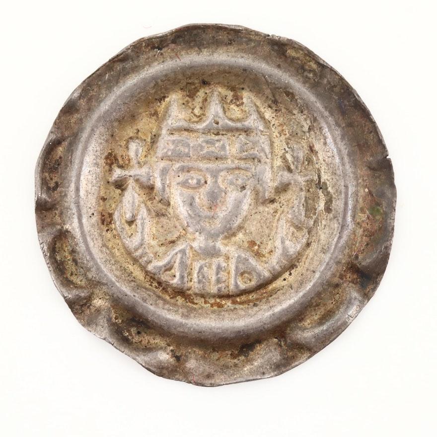 Bishopric of Augsburg AR Bracteate Coin of Bishop Siboto of Seefeld, ca. 1230