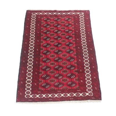 4' x 6'1 Hand-Knotted Persian Turkoman Rug, Circa 1970s