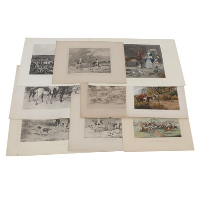 Group of 19th Century British Hunting Prints, Unframed