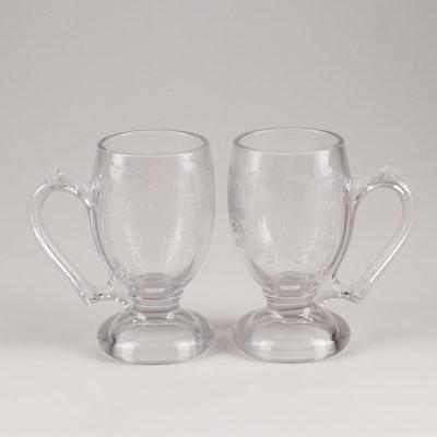 Saratoga 1878 Souvenir Pressed Glass Mugs