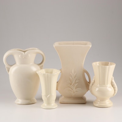 American Made Ceramic Vases Including Nelson Mccoy